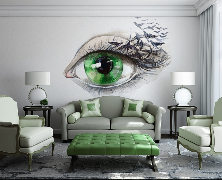 3 eye wall art