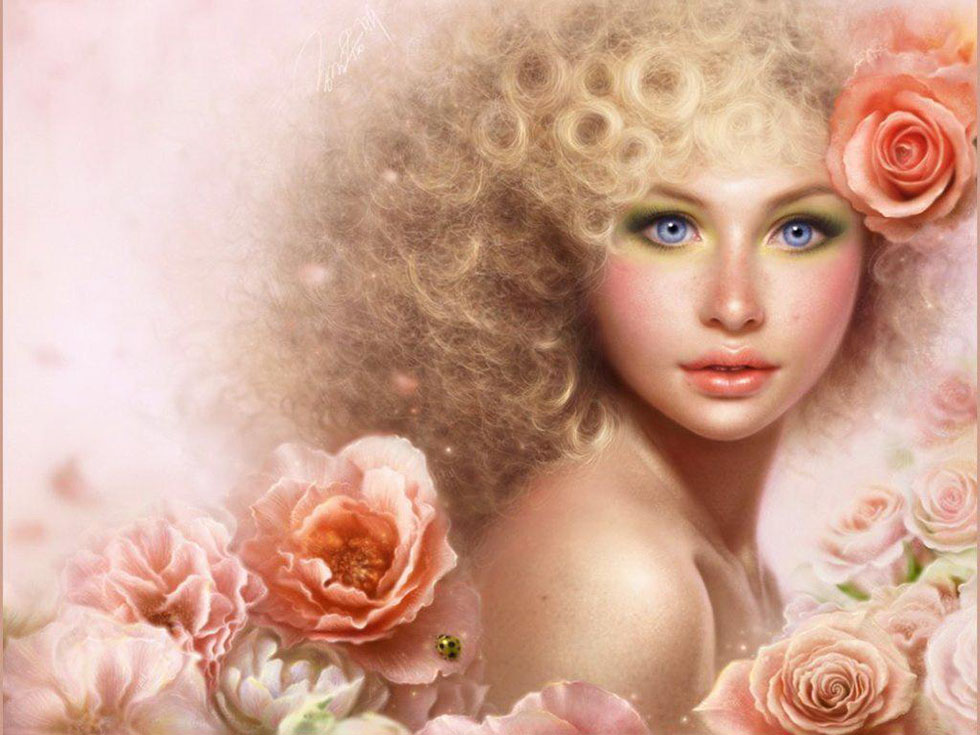 3 flower girl fantasy art