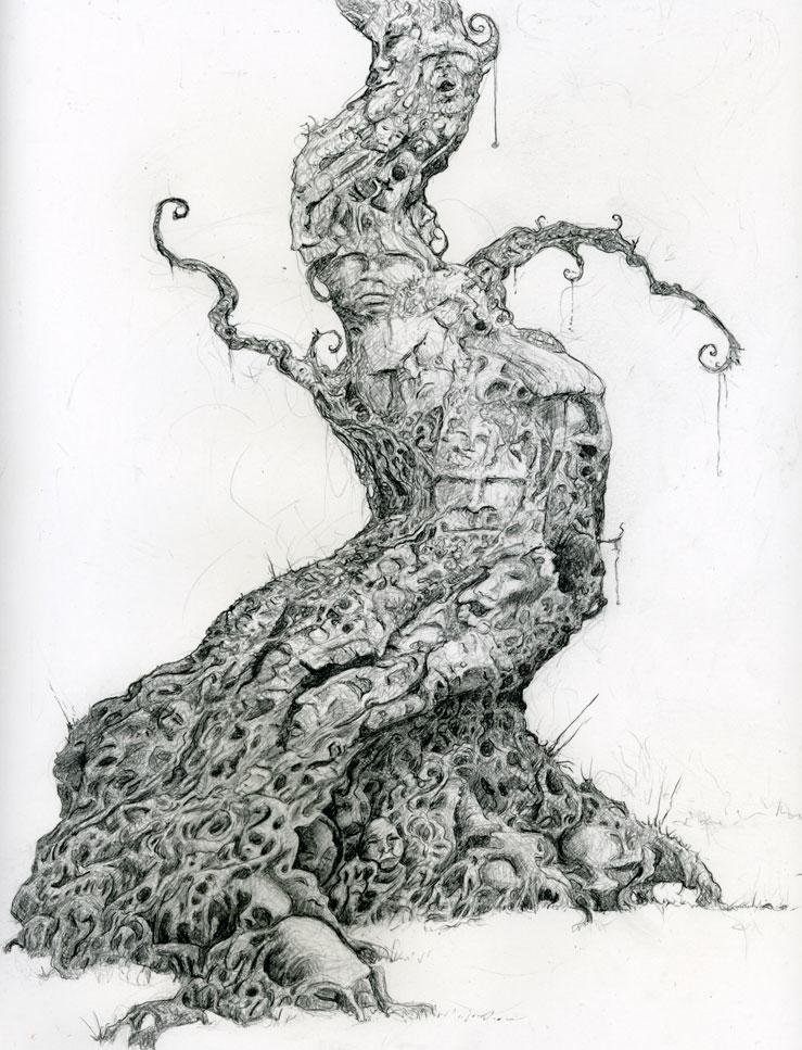 3 tree drawings
