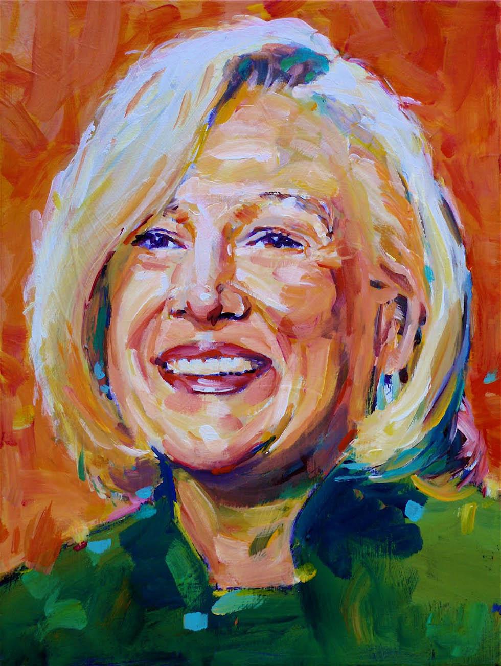 30 lady potrait paintings