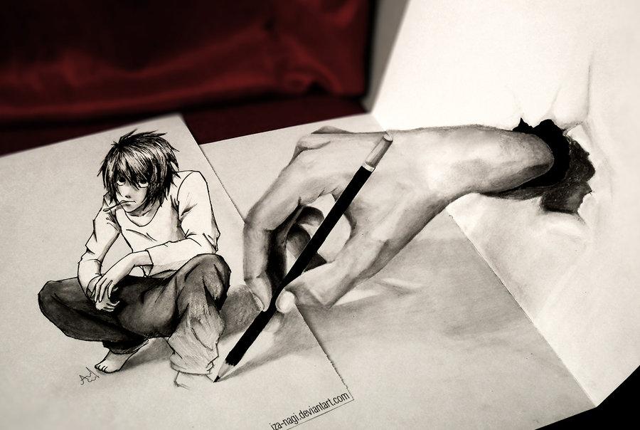 4 3d drawings by iza nagi