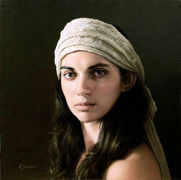 4 girl hyper realistic paintings