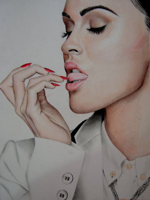 5 color pencil drawing
