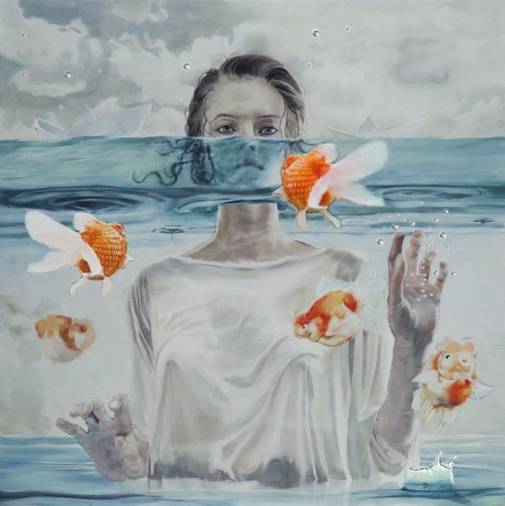 5 girl surreal art