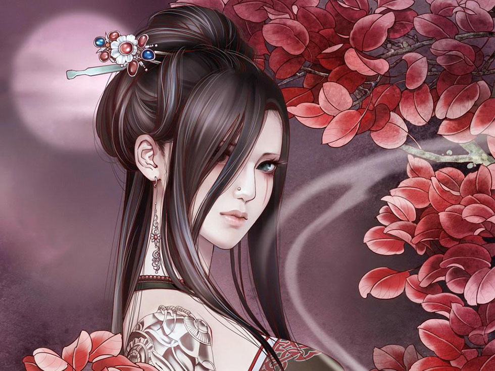 6 flower girl fantasy art