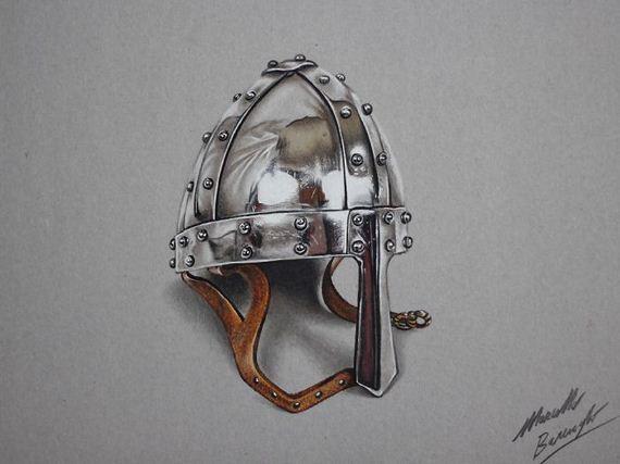 6 helmet 3d drawings