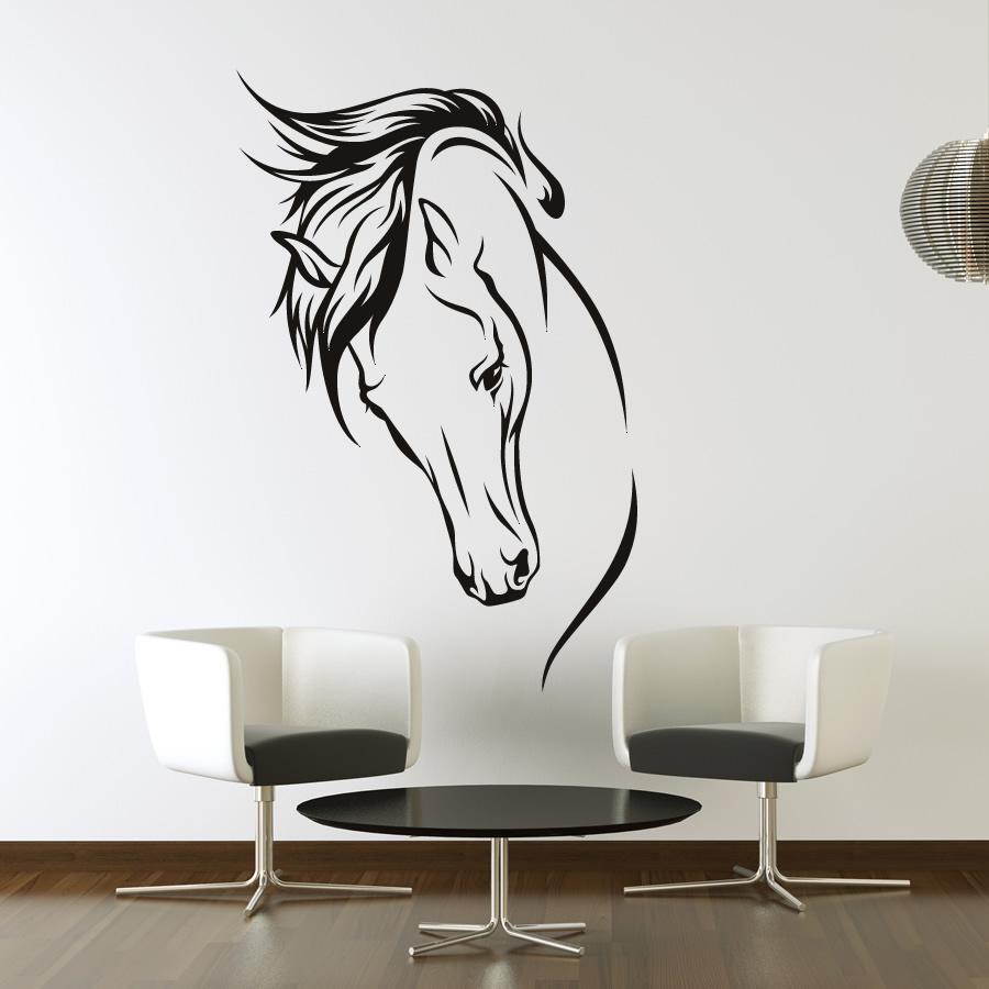 6 horse wall art