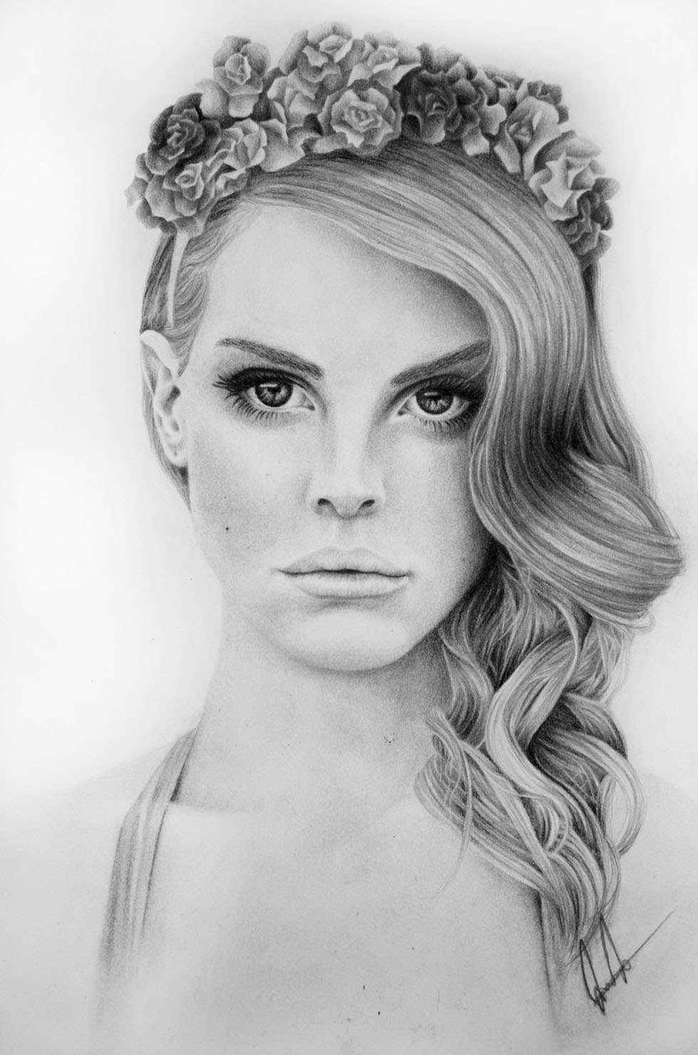 6 potrait drawings by lana