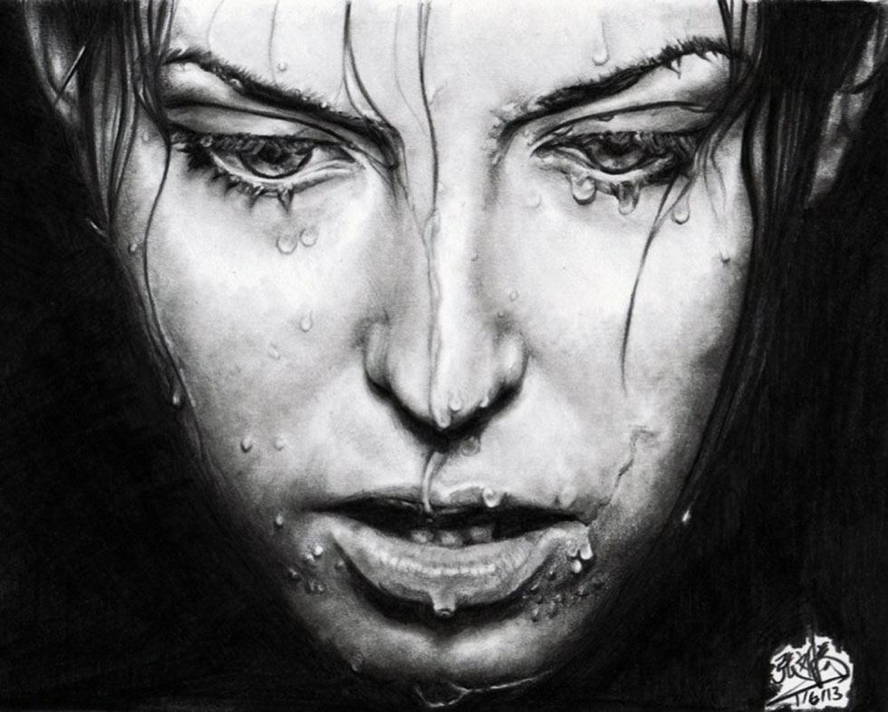 6 realistic face drawings