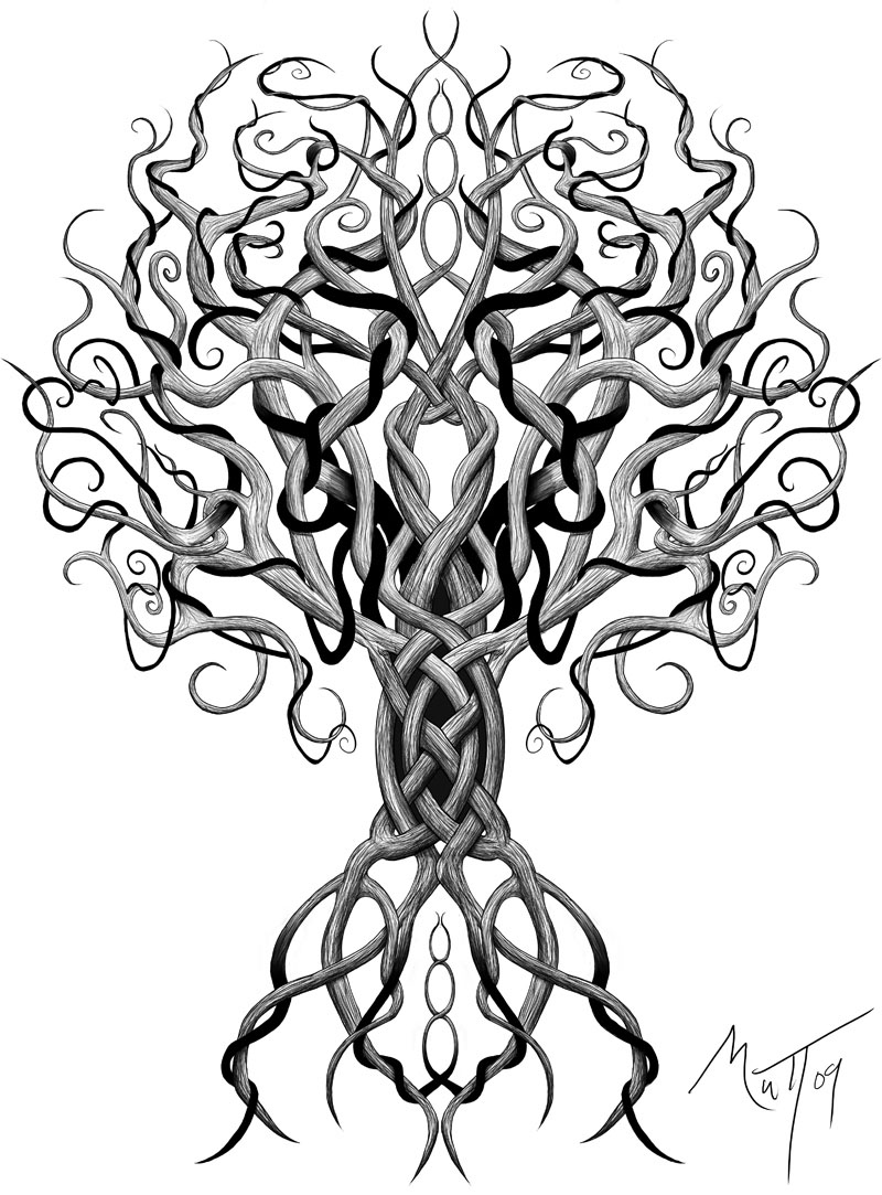 tree drawings by mattius -  6