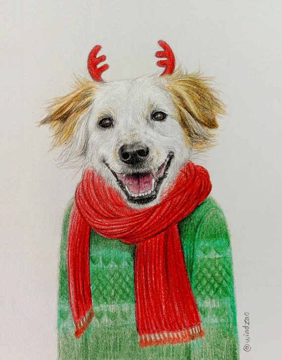 7 dog funny drawings