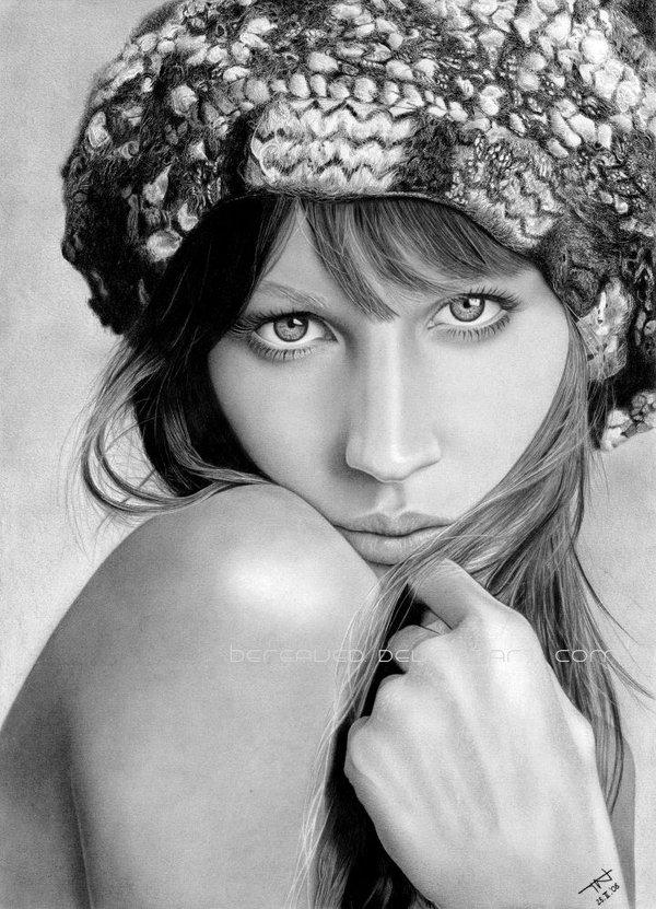7 girl pencil drawings by bereaved