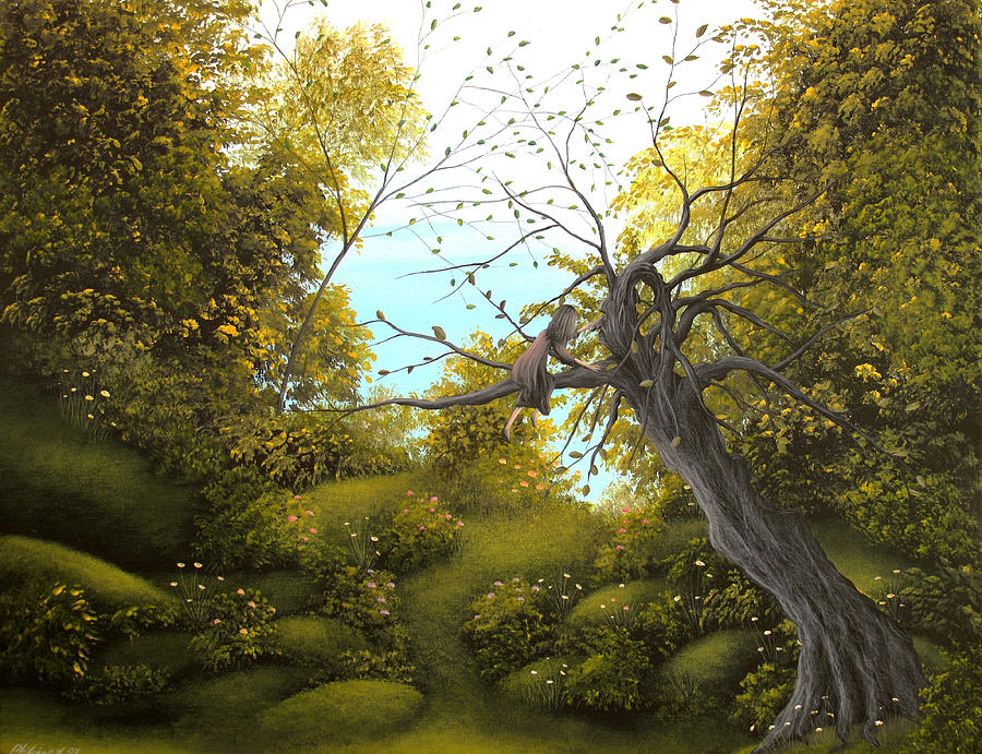 7 tree paintings by philippe fernandez