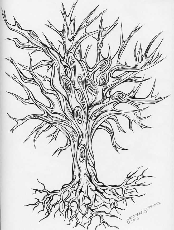 tree tattoo drawing -  7