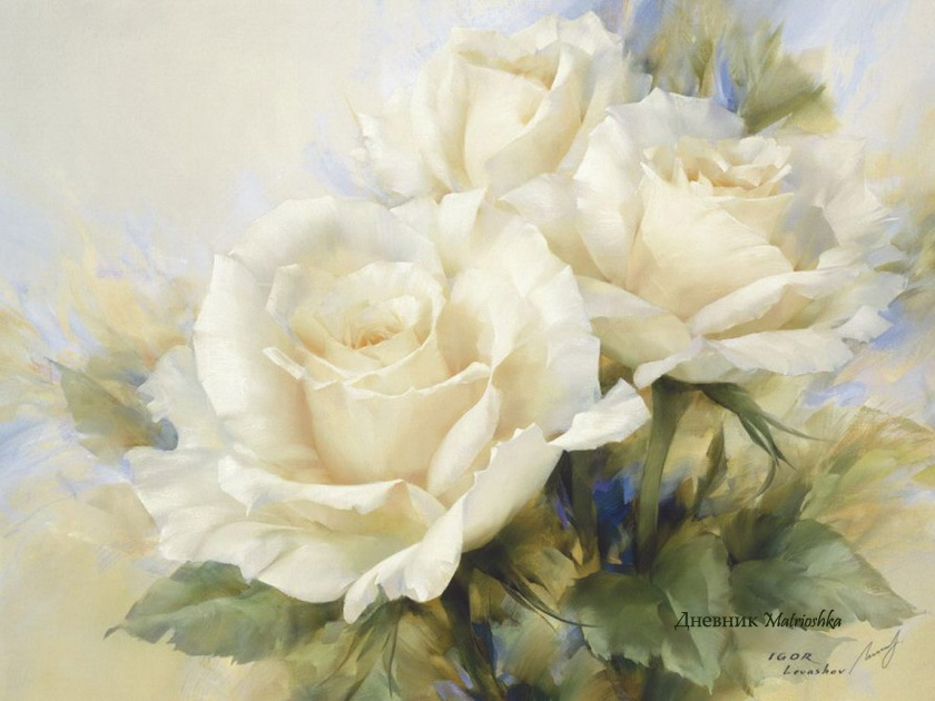 8 beautiful white flower painting