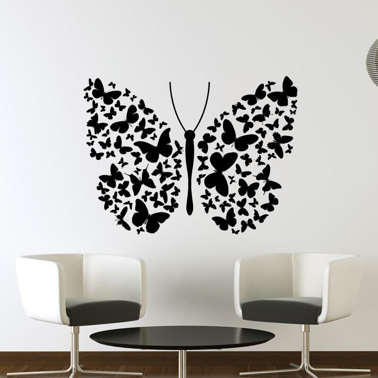 8 butterfly wall art