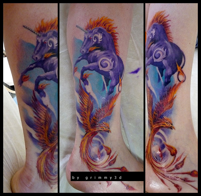 fantasy leg tattoos women grimmy -  8