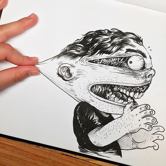 8 funny drawings by alex solis