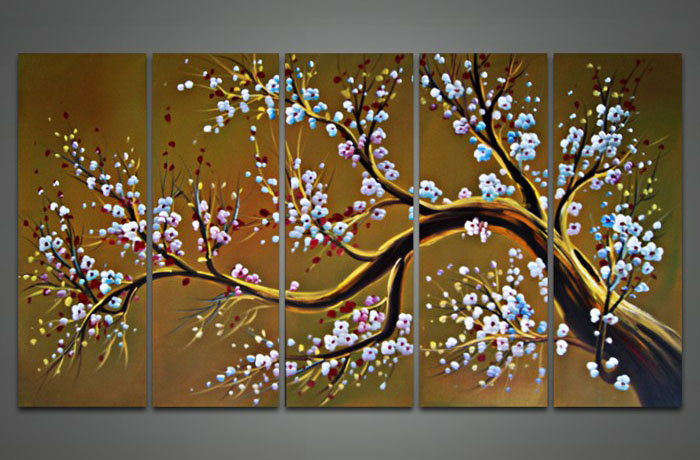 8 white flower tree painting