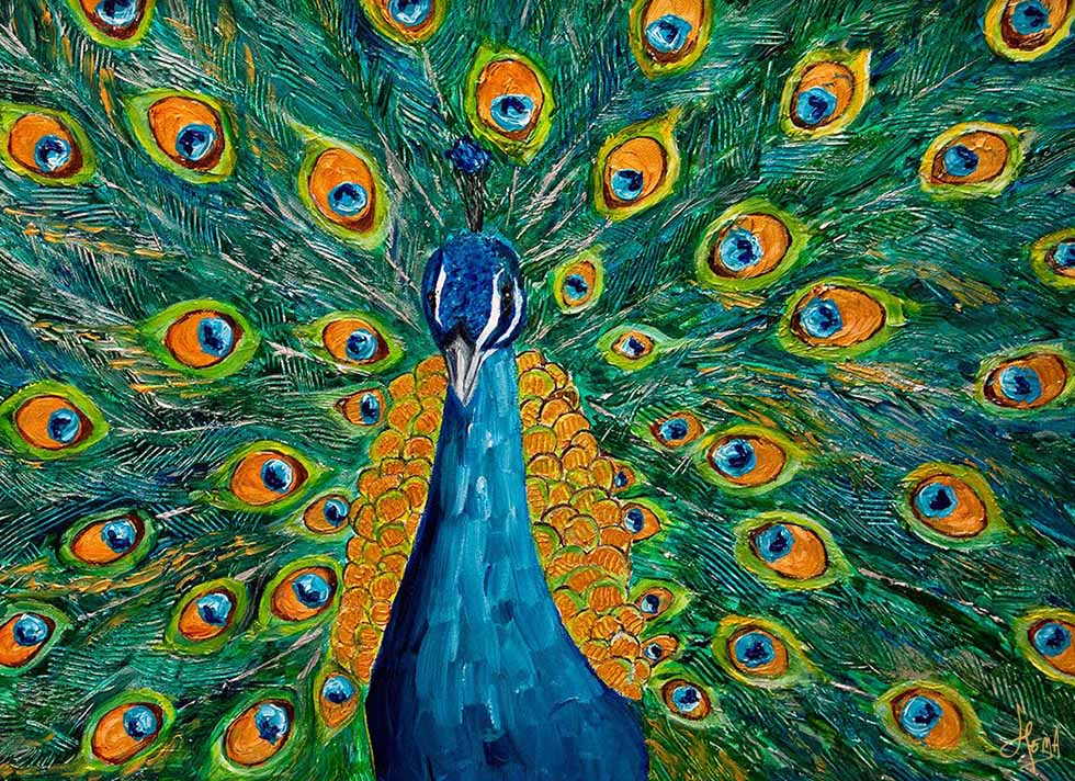 9 acrylic painting