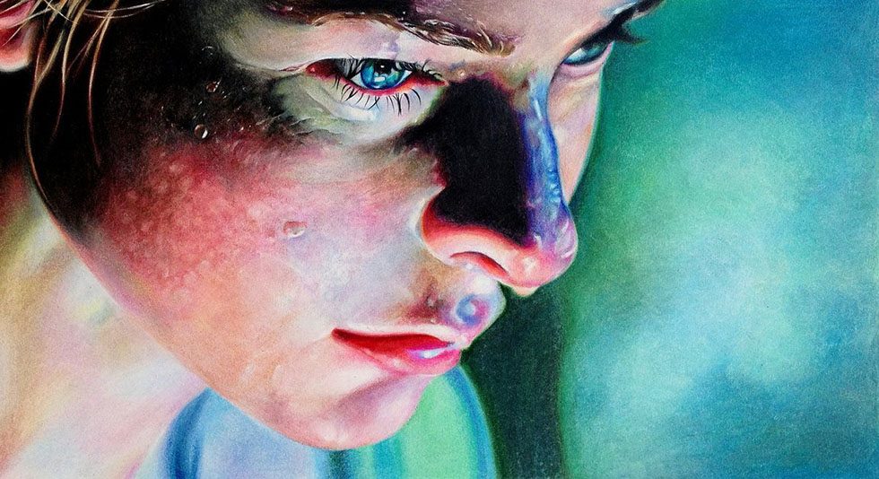 9 color pencil drawing by drawrae