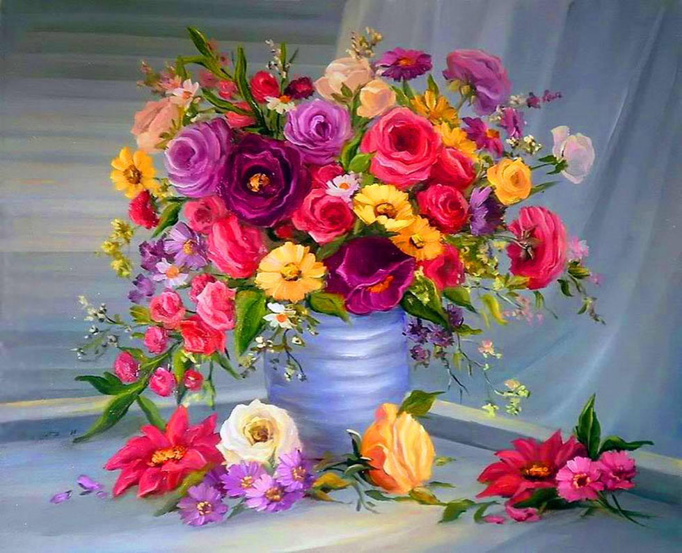 9 colorful flower painting
