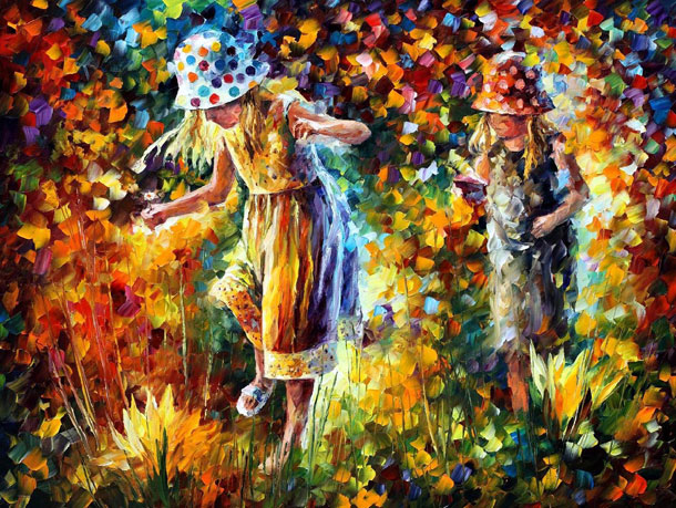 9 colourful painting by leonid afremov