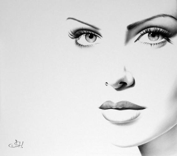 9 girl face drawings