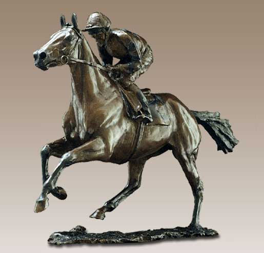 horse rider bronze sculptures