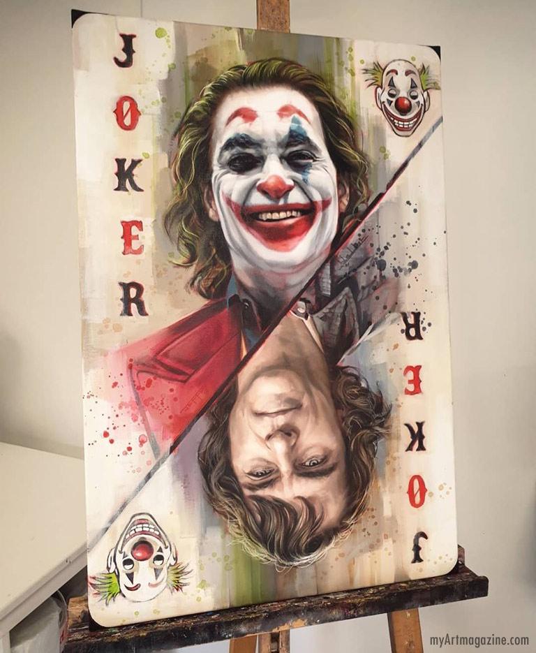 painting joker by ben jeffery