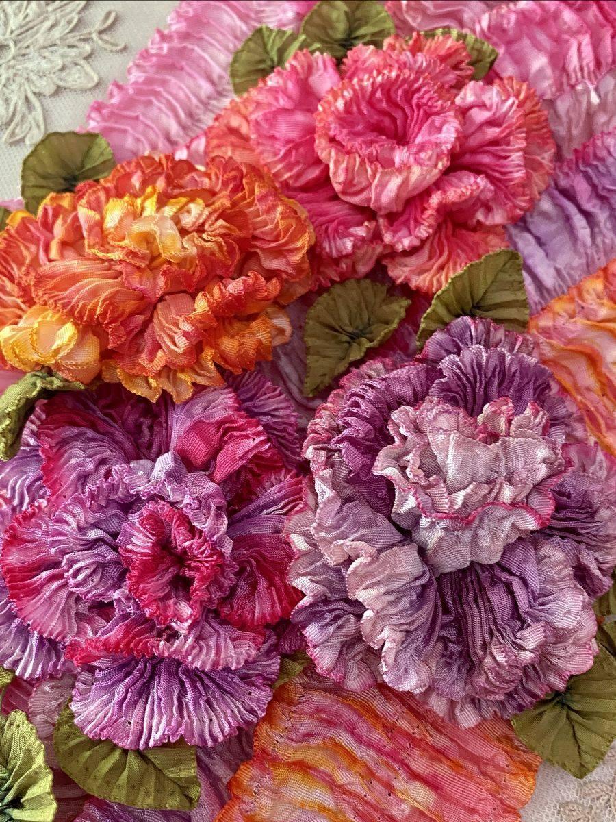 creative ribbon sculpture flowers by vintage passementerie