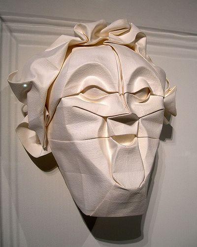 sculpture origami face eric joisel