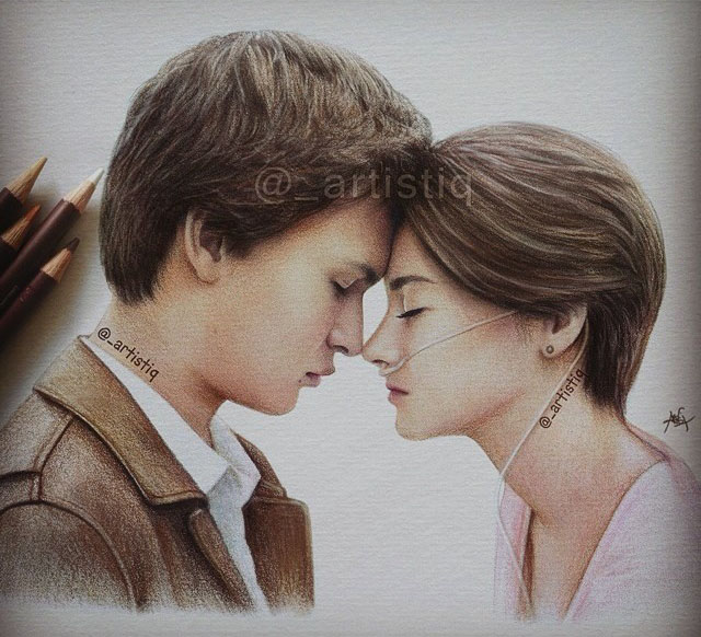 love colour pencil drawing