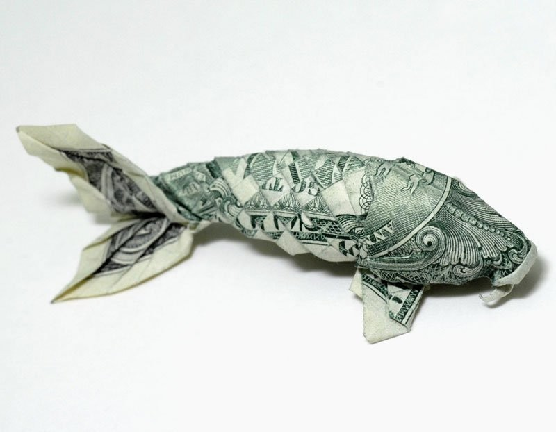 17 koi fish paper sculptures art by nguyen gung cuong