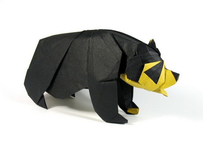 3 bear paper sculptures art