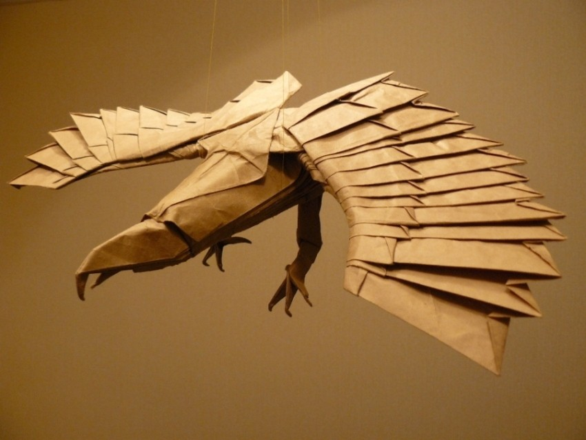 8 dragon paper sculptures art by nguyen gung cuong
