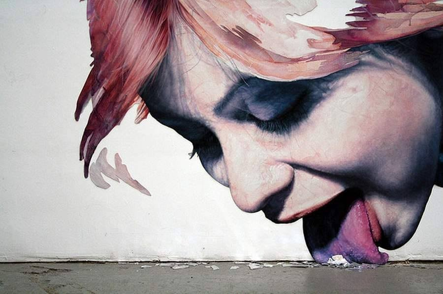 9 woman creative street art work