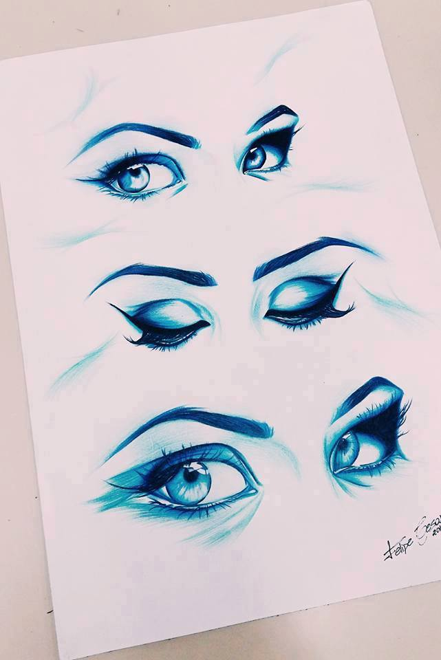 drawing of eyes