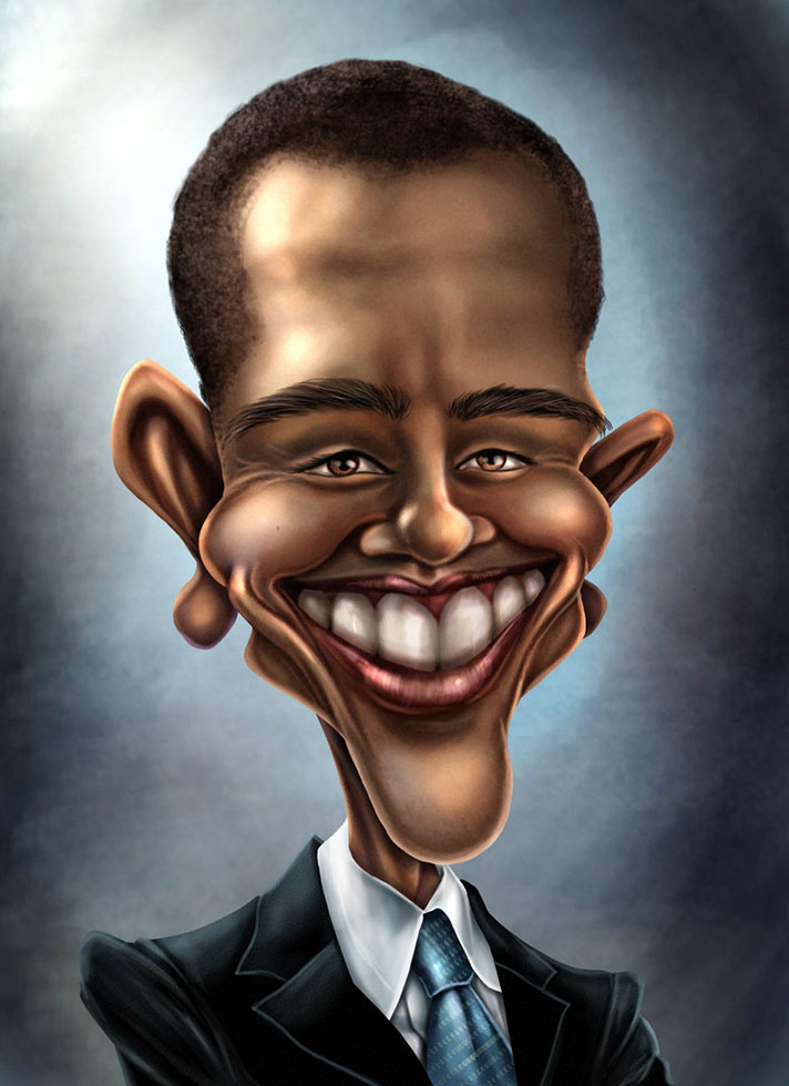 obama caricature by kromespawn -  1