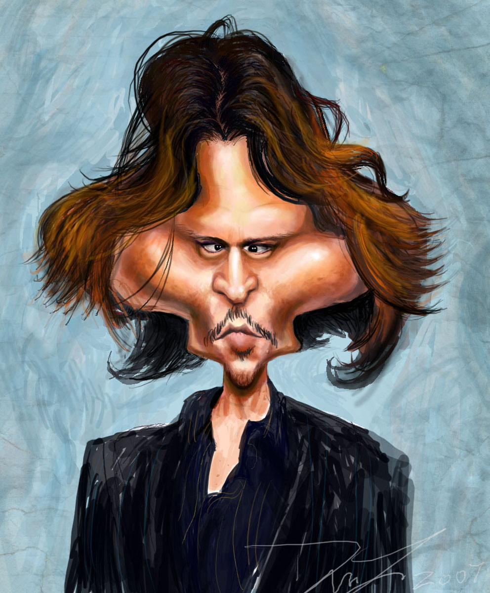 13 johnny depp caricature