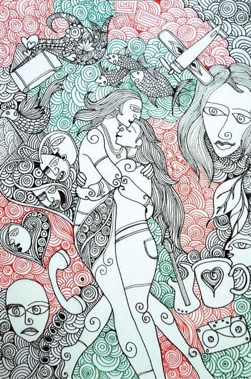 doodle art works