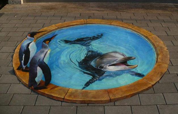 london aquarium street art