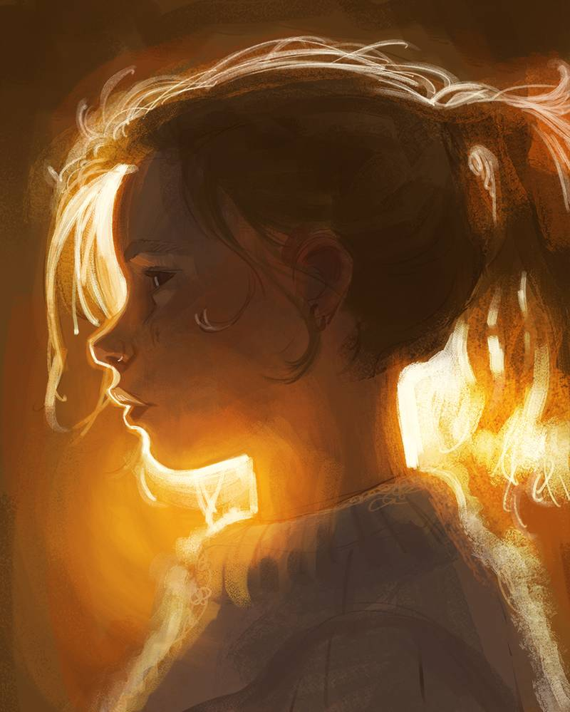 digital art portrait girl