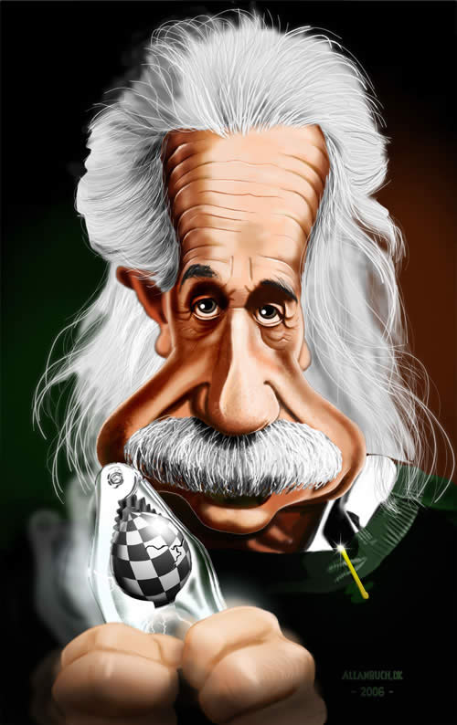 albert einstein celebrity caricatures