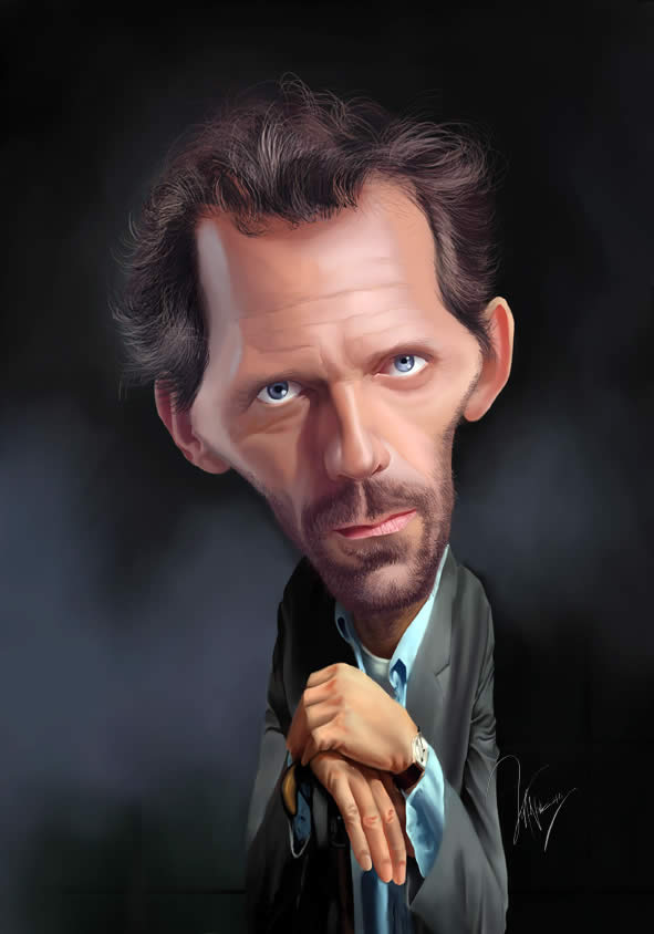 hugh laurie celebrity caricatures