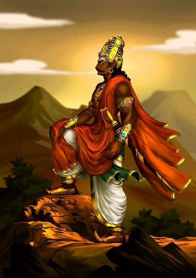karikalan tamil king digital painting