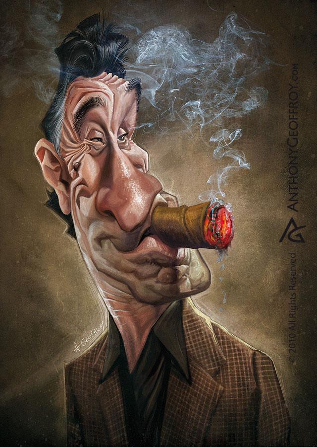 robert celebrity caricatures