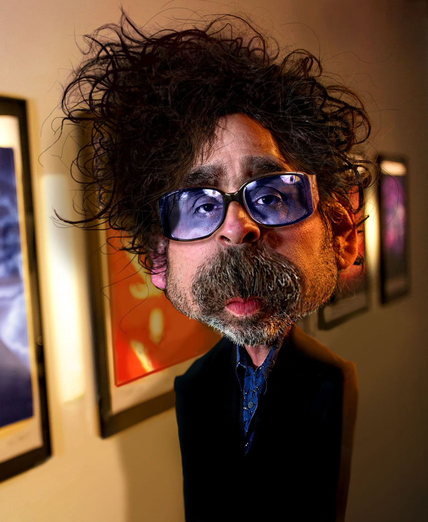 tim burton celebrity caricatures