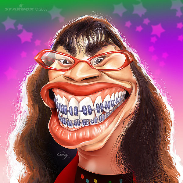 ugly betty celebrity caricatures anthony