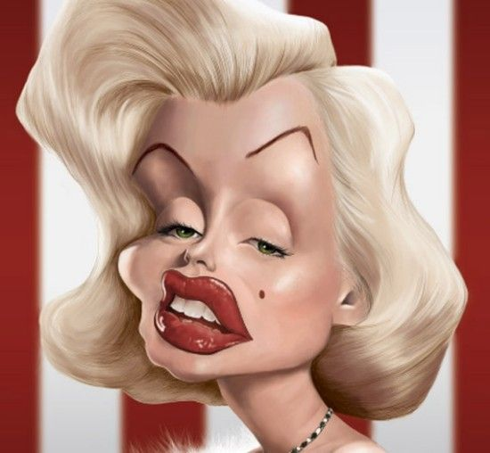 wome celebrity caricatures